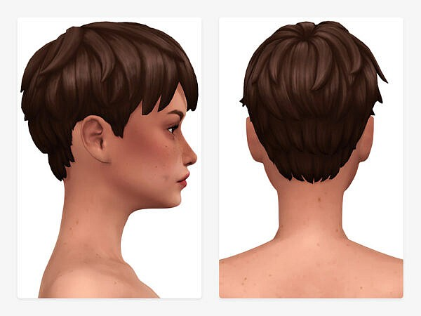 Heidi Hair by Nords ~ The Sims Resource for Sims 4