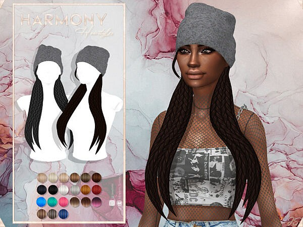 JavaSims Harmony Hair ~ The Sims Resource for Sims 4