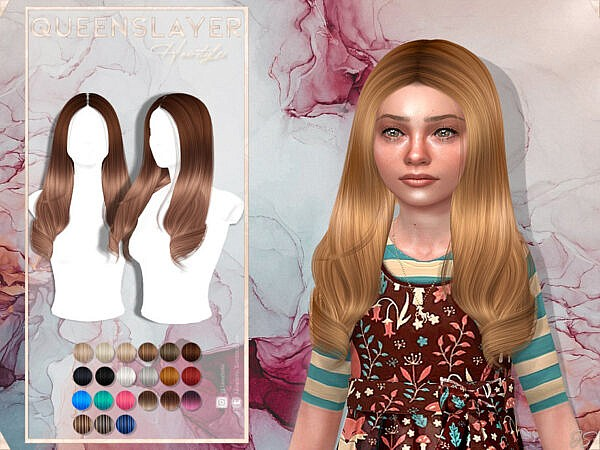 JavaSims Queens Layer Hairstyle ~ The Sims Resource for Sims 4