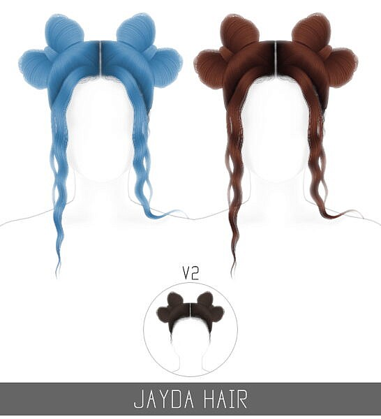 Jayda hairstyle ~ Simpliciaty for Sims 4
