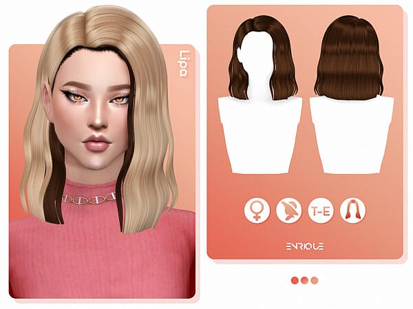 Lipa Hairstyle ~ Enrique for Sims 4