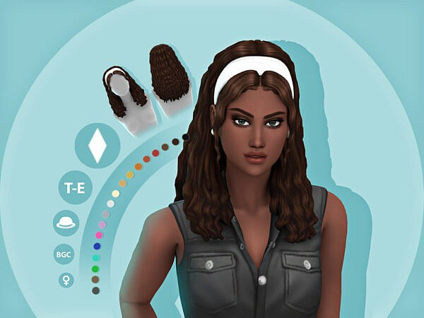 Maddie Hairstyle by simcelebrity00 ~ The Sims Resource for Sims 4