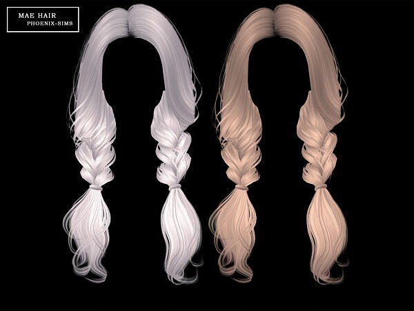 Cadence, Mae, Lindsey and April Hairs ~ Phoenix Sims for Sims 4