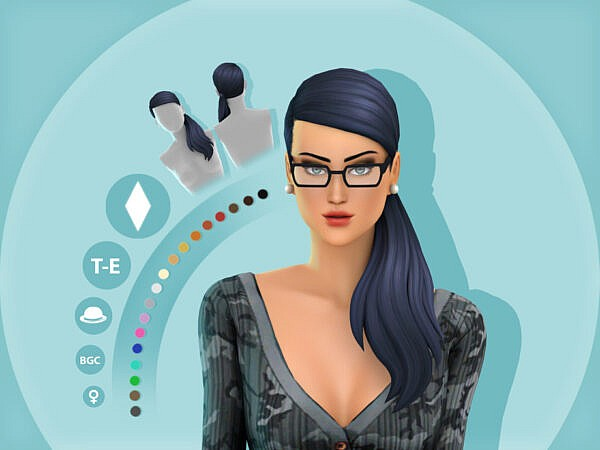 Mindy Hairstyle by simcelebrity00 ~ The Sims Resource for Sims 4