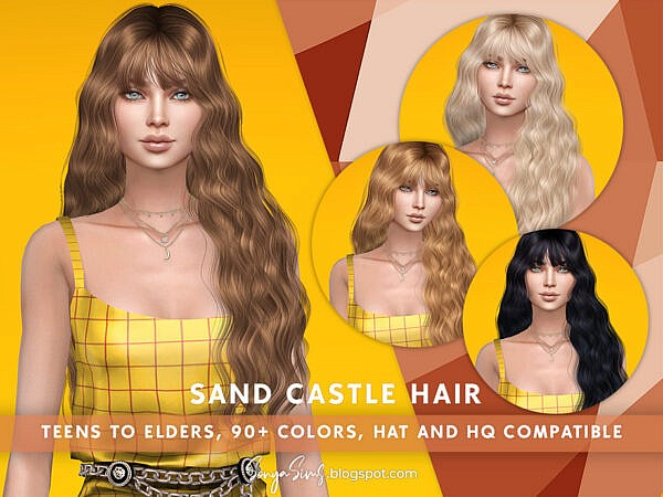 SonyaSims Sand Castle Hair ~ The Sims Resource for Sims 4