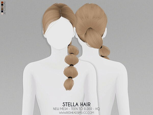 Stella Hairstyle ~ Coupure Electrique for Sims 4