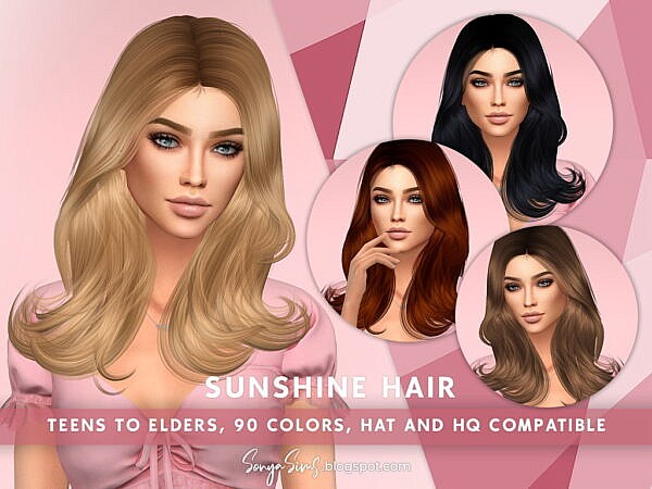 Sunshine Hair ~ Sonya Sims for Sims 4