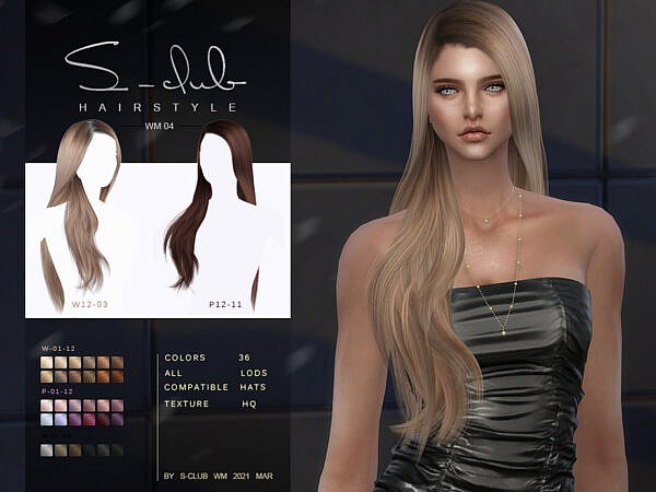 WM Hair 202109 by S Club ~ The Sims Resource for Sims 4