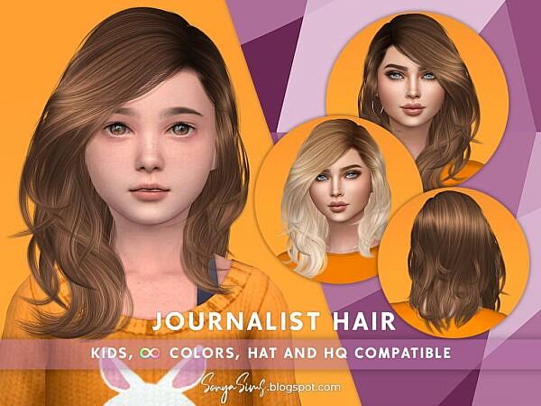 Journalist Hair ~ Sonya Sims for Sims 4