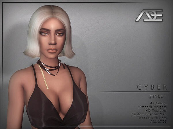 Ade Darma`s Cyber Style 1 Hairstyle ~ The Sims Resource for Sims 4