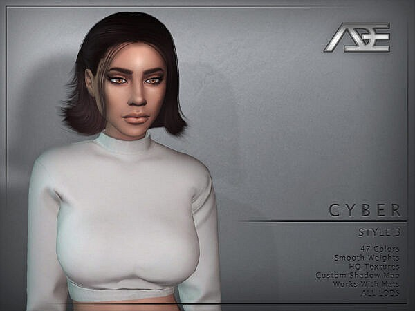 Cyber Style 3 Hairstyle by Ade Darma ~ The Sims Resource for Sims 4