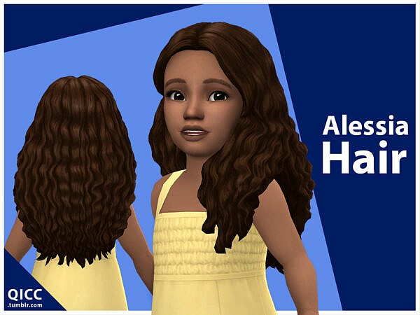 Alessia Hair by qicc ~ The Sims Resource for Sims 4