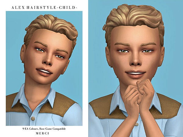 Alex Hairstyle Child by Merci ~ The Sims Resource for Sims 4