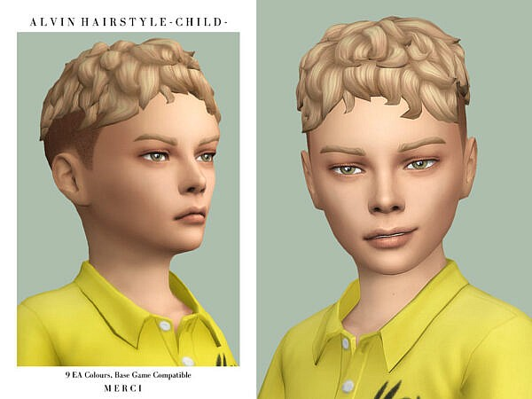 Alvin Hairstyle C by Merci ~ The Sims Resource for Sims 4