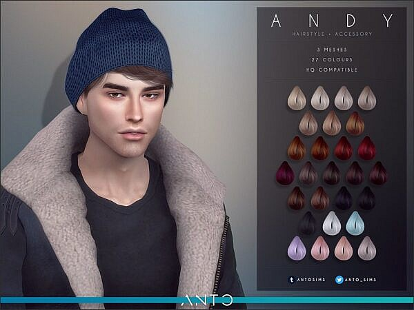 Andy Hairstyle by Anto ~ The Sims Resource for Sims 4
