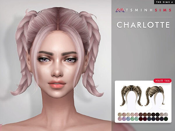 TsminhSims Charlotte Hairstyle 146