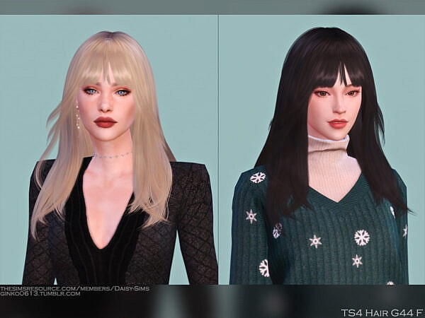 DaisySims Hairstyle G44 ~ The Sims Resource for Sims 4