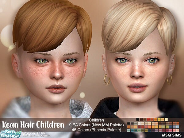 Kean Hair Child by MSQSIMS ~ The Sims Resource for Sims 4