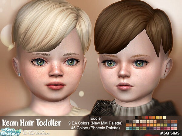 Kean Hair Toddler by MSQSIMS ~ The Sims Resource for Sims 4