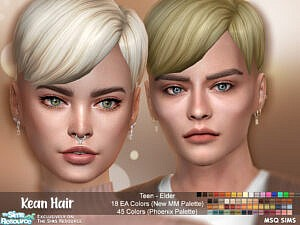 Kean Hairstyle by MSQSIMS