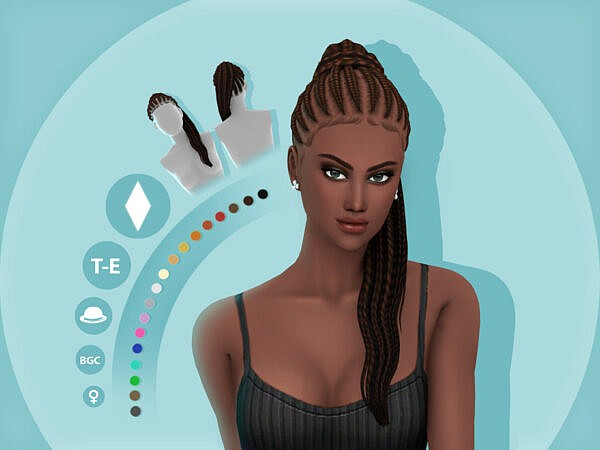 Kehlani Hairstyle by simcelebrity00