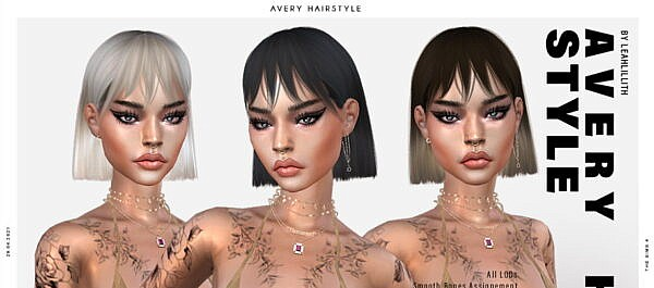 LeahLillith Avery Hairstyle ~ The Sims Resource for Sims 4