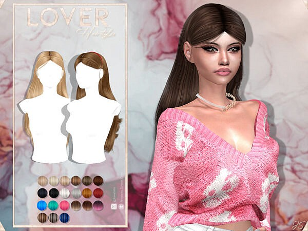 JavaSims Lover Hairs ~ The Sims Resource for Sims 4