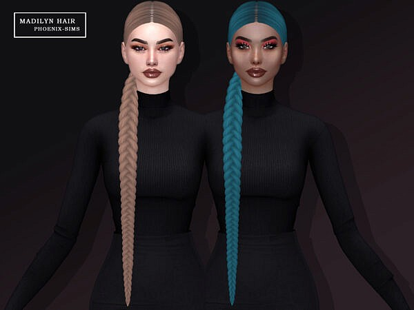 Winter, Madilyn, Hairs and Nightcrawler Hair Conversion ~ Phoenix Sims for Sims 4