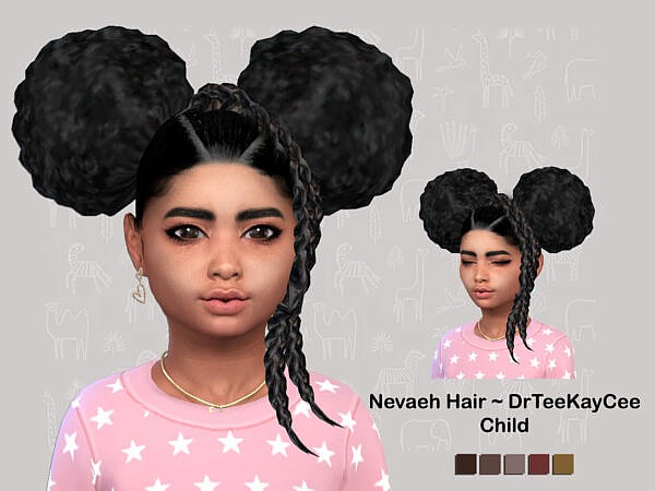 Nevaeh Hair child by drteekaycee ~ The Sims Resource for Sims 4