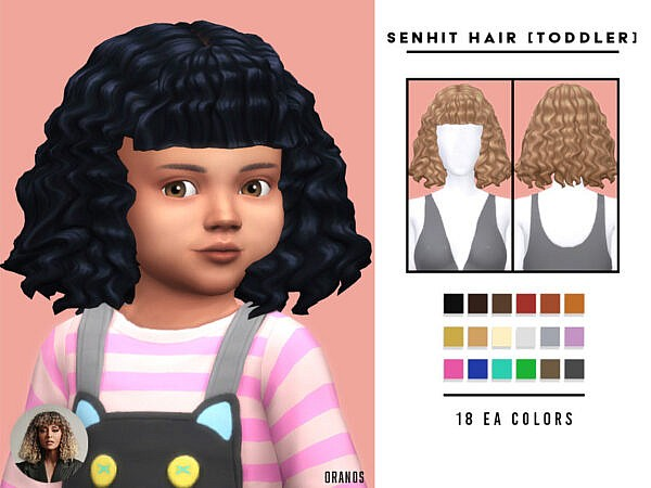 Senhit Hair Toddlers by OranosTR ~ The Sims Resource for Sims 4