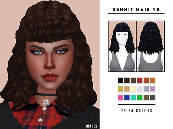 Senhit Hairstyle V2 by OranosTR ~ The Sims Resource for Sims 4