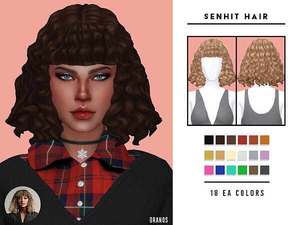 OranosTR Senhit Hairstyle ~ The Sims Resource for Sims 4