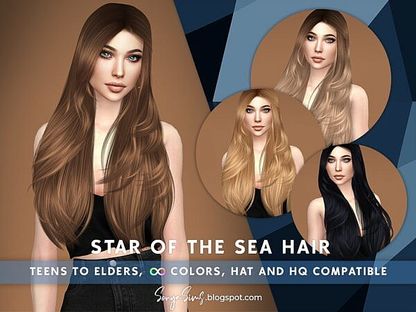Star of the Sea Hair ~ Sonya Sims for Sims 4