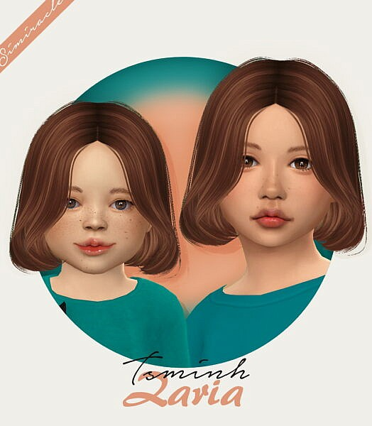 TsminhSims Zaria Hairstyle Retextured ~ Simiracle for Sims 4