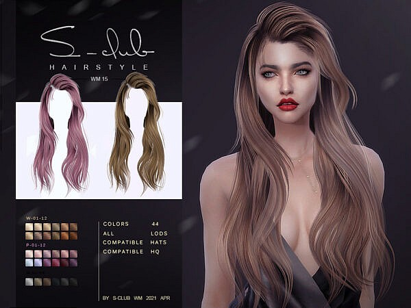 WM Hair 202115 ~ The Sims Resource for Sims 4