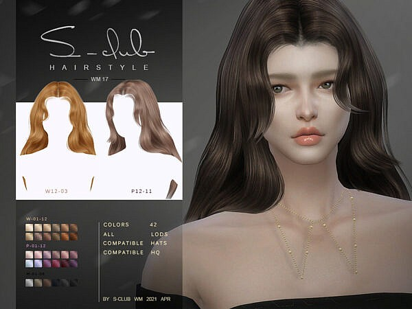WM Hair 202117 by S Club ~ The Sims Resource for Sims 4