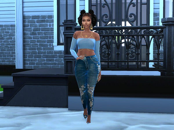 Braided Wonder Hair by drteekaycee ~ The Sims Resource for Sims 4