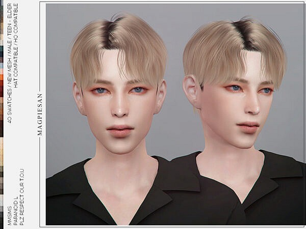 Paranoid L Hair by magpiesan ~ The Sims Resource for Sims 4