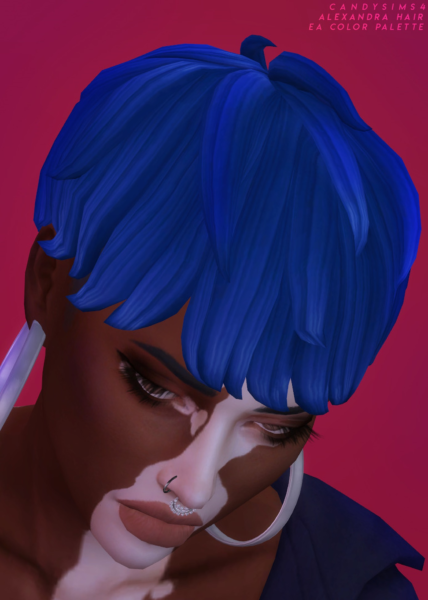 Alexandra Hairstyle ~ Candy Sims 4 for Sims 4