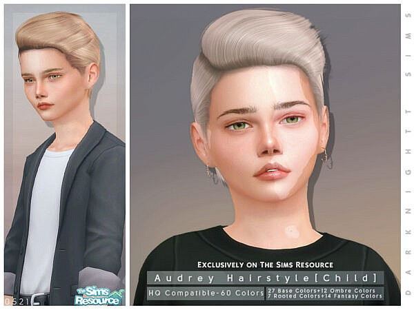 Audrey Hairstyle Child by DarkNighTt ~ The Sims Resource for Sims 4