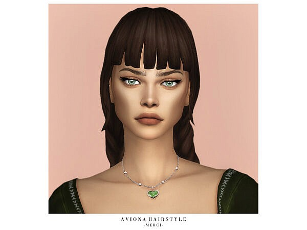 Aviona Hairstyle by Merci ~ The Sims Resource for Sims 4