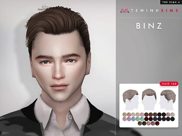 Binz Hair 148 by TsminhSims ~ The Sims Resource for Sims 4