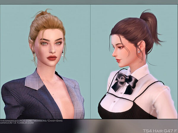 Hair G47 by DaisySims ~ The Sims Resource for Sims 4