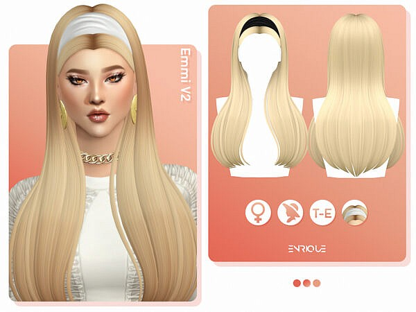 Emmi V2 Hairstyle ~ Enrique for Sims 4