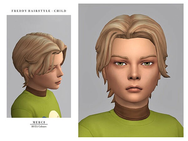 Freddy Hairstyle by Merci ~ The Sims Resource for Sims 4