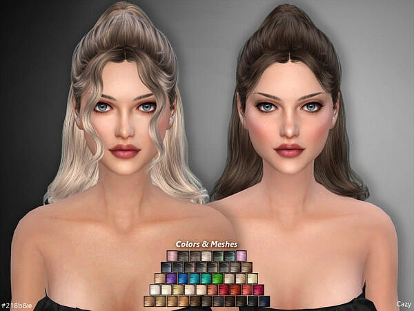 Hairstyles Set by Cazy ~ The Sims Resource for Sims 4