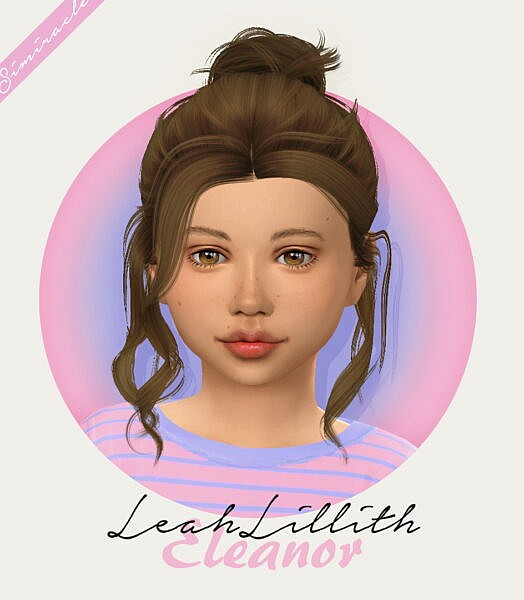 LeahLillith Eleanor Hair retextured ~ Simiracle for Sims 4