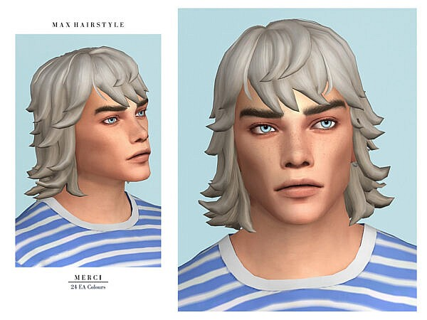 Max Hairstyle by Merci ~ The Sims Resource for Sims 4