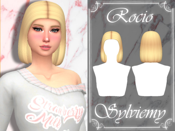 Rocio Hairstyle by Sylviemy ~ The Sims Resource for Sims 4