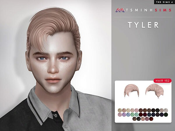 Tyler Hair 152 by TsminhSims ~ The Sims Resource for Sims 4